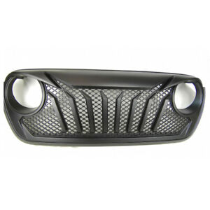 For Jeep Wrangler Jl 2018 2019 New Front Bumper Grille With Mesh Inserts Aggresi