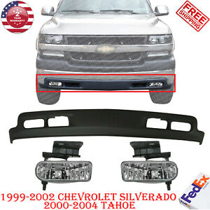 Front Lower Valance Primed Fog Lamp Rh Lh For 99 02 Chevy Silverado 00 04 Tahoe
