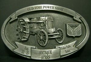 Oliver Hart Parr 30 Tractor Logo Pewter Belt Buckle 1996 Antique Acre Steam Show