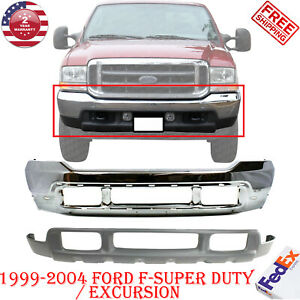 Front Bumper Chrome Lower Valance For 1999 2004 Ford F Super Duty Excursion