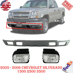 Front Lower Valance Fog Lights For 2003 2007 Chevy Silverado 1500 2500 3500