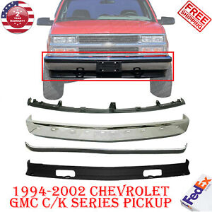 Front Bumper Chrome Steel Molding Valance For 1994 2002 Chevy C K Pickup