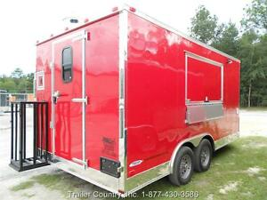 New 8 5x16 8 5 X 16 Enclosed Concession Food Vending Bbq Trailer