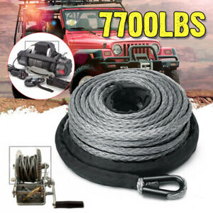 15m Atv Utv High Strength Synthetic Winch Line Cable Rope Tow Cord With Sheath