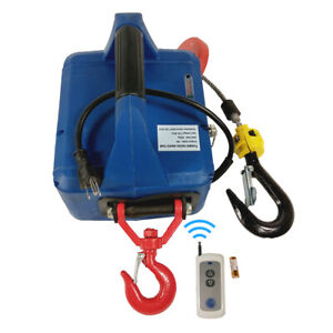 110v Electric Hoist 992lbx24 9ft Portable Electric Winch With Remote Control3in1