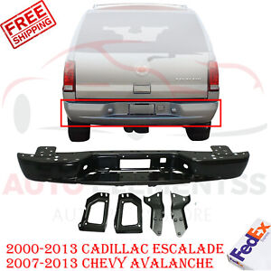 Rear Reinforcement Bumper For 2000 2013 Cadillac Escalade 07 13 Chevy Avalanche