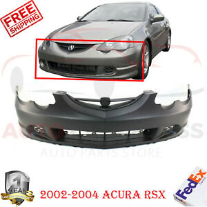 Front Bumper Cover Primed Brackets For 2002 2004 Acura Rsx Base Type s