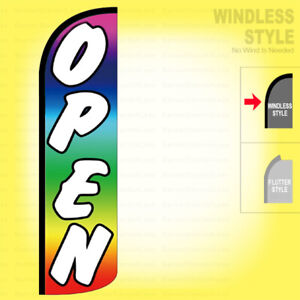 Open Windless Swooper Flag 3x11 5 Ft Feather Banner Sign Rainbow Ak013
