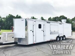 New 8 5x32 Enclosed Cargo Concession Food Vending Kitchen Trailer W Bath