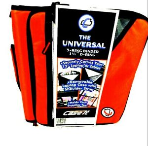 Case it Universal 1 1 2 Inch 3 ring Zipper Binder Holds 13 Inch Laptop Red New