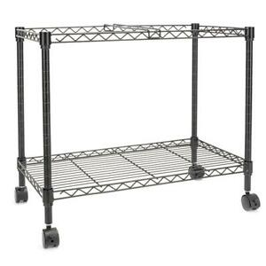 23 6 X 12 6 X 18 Single Tier Metal Rolling Mobile File Cart Office Supplies