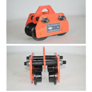 2204lb Push Beam Track Roller Trolley Heavy Loads I beam Garage Hoist Monorail