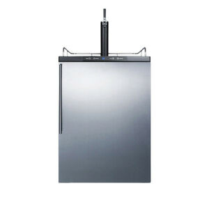 Summit Sbc635mbisshv 24 w 6 Cu Ft Single Tap Built in Kegerator Stainless