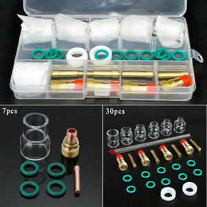 Welding Consumables Stubby Torch Gas Lens Accessories Kit For Tig Wp 9 20 25 17