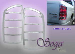 For 2002 2008 Dodge Ram 1500 2500 3500 Chrome Tail Lights Covers Trim Pair Fast
