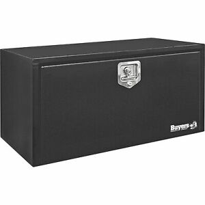 Buyers Products 1703300 Steel Underbody Truck Box With Drop Door Black 24in W