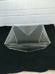 Vintage Lucite Folded Legs Envelope Square Coffee Table