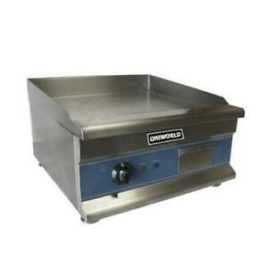 Uniworld Ugr ch20 Economy 20 Electric Countertop Griddle Flat Top Grill