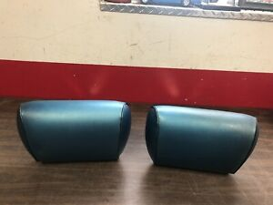 1969 72 Chevelle Cutlass Skylark Gto Bench Seat Headrest Original Blue Pair