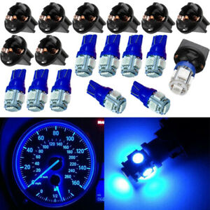 10pcs T10 5smd Pc194 168 Led Blue Car Instrument Cluster Dash Gauge Light Bulbs
