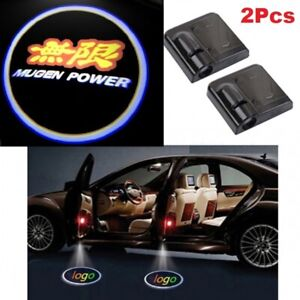 2 X Mugen Car Door Welcome Led Lights Courtesy Projector Ghost Shadow Sticker