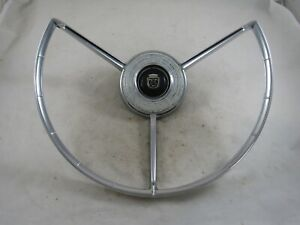 Vintage Original 1958 Ford Fairlane Steering Wheel Horn Ring
