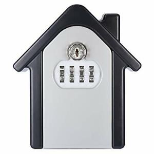 Allnice Key Lock Box Wall Mounted Lock Box With 4 digit Combination Resettable
