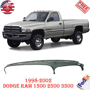 Dashboard Cover Graphite Gray For 1998 2002 Dodge Ram Truck