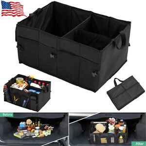 Car Trunk Cargo Organizer Foldable Storage Bag Box Multi Purpose Collapse Bin Us