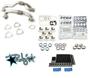 Rudy S Engine Overhaul Kit W Up Pipes For 2008 2010 Ford 6 4 Powerstroke Diesel