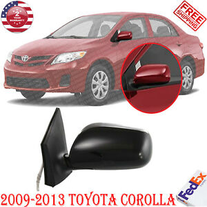 Left Driver Side Mirror Power Manual Folding Heated For 2009 13 Toyota Corolla