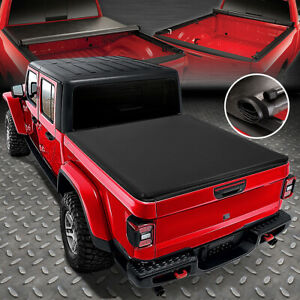 For 20 21 Jeep Gladiator Jt Pickup Truck Bed Soft Lock Roll up Tonneau Cover
