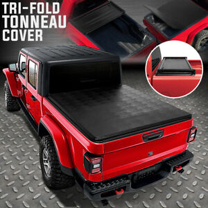 For 2020 Jeep Gladiator Jt Truck Bed Adjustable Soft Top Tri fold Tonneau Cover