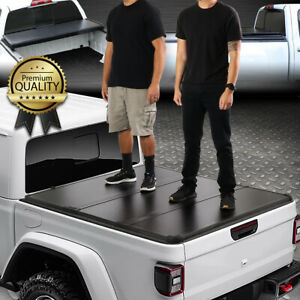 For 20 21 Jeep Gladiator Jt Pickup Truck Bed Hard Solid Tri fold Tonneau Cover