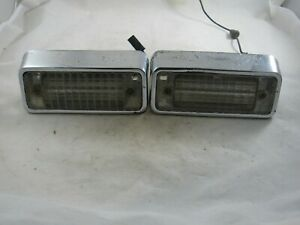 Vintage Pair Of Original 1969 Chevy Camaro Rs Back up Lights