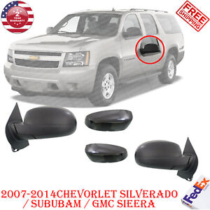Opower Side Mirrors Heated Folding Black Left Right Side For 2007 14 Chevy Gmc