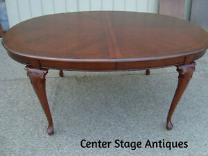 00001 Solid Mahogany Kimball Furniture Dining Table W No Leafs