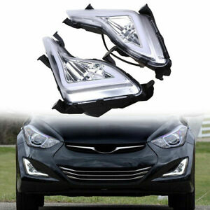 Daytime Running Fog Light Cover Housing With Drl Controller For Hyundai Bb0731
