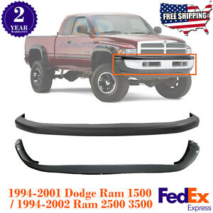 Front Bumper Cover Valance Combo Kit For 94 2002 Dodge Ram 1500 2500 3500
