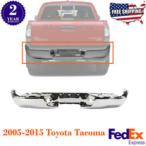 Rear Step Bumper Chrome Steel Without Sensor Holes For 2005 2015 Toyota Tacoma