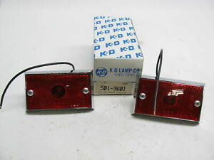 X2 Vintage Kd Lamps 501 3601 Rectangular Side Marker Lamps Kd501