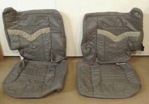 Ducks Unlim Chevy Tahoe 98 99 Oem Rear Pass 3rd Row Seat Covers Splitbench Gray