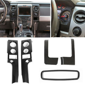 5pcs Center Console Panel Dashboard Trim Bezels Inner Kit For Ford F150 2009 14