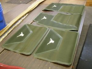 Nos Oem Ford 1958 1959 1960 Thunderbird T bird Green Rubber Floor Mats Mat Set
