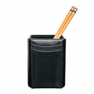 A1010 classic black leather pencil cup