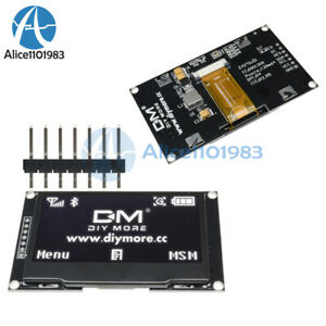 2pcs 2 42 Inch 128x64 White Oled Lcd Display Spi Iic Module Ssd1309 For Arduino