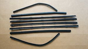 New 1964 1965 1966 Plymouth Barracuda Window Sweep Belt Weatherstrip Catwhiskers