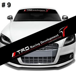 Racing Car Front Windshield Window Black Vinyl Banner Decal Sticker Trd