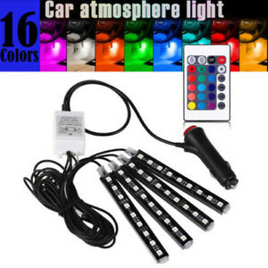 Car Cigarette Lighter Atmosphere Led Rgb Interior Dash Floor Seat Accent Lights