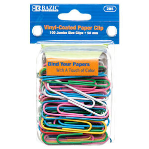 Paper Clip 50mm 100pc Jumbo Size 205 Bazic Wholesale 24 Pack